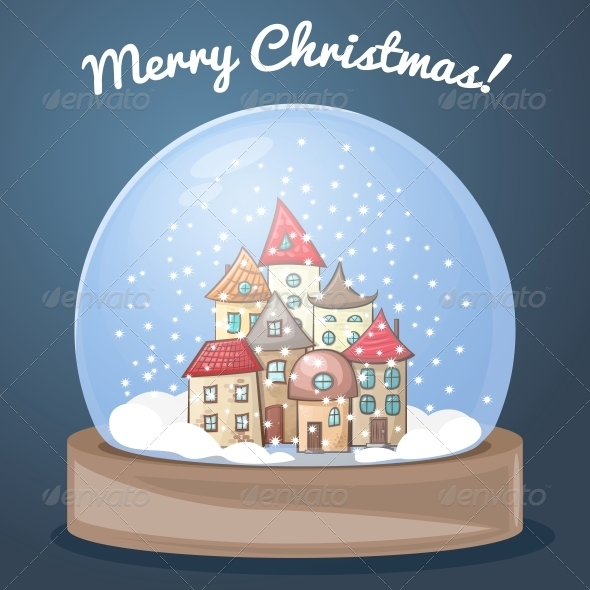 GraphicRiver Snow Globe with a House 6091243