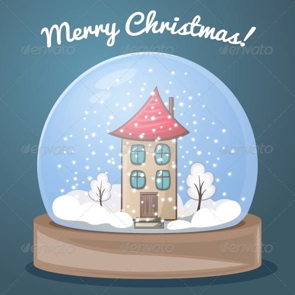 GraphicRiver Snow Globe with a House 6091271