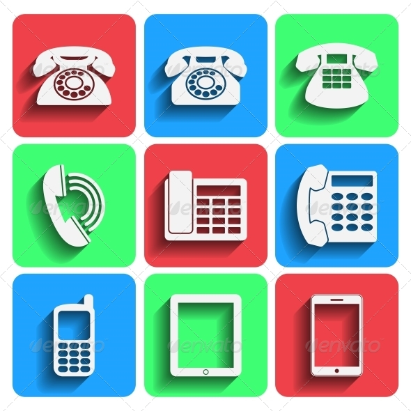GraphicRiver Phone Icons With Shadow 6091622