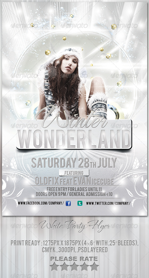 GraphicRiver White Party Flyer Template 6091914