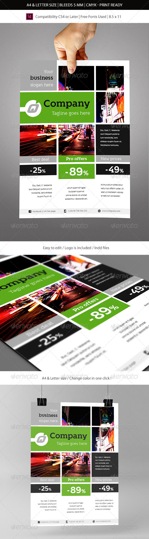 GraphicRiver Indesign Business Flyer Template 6091916