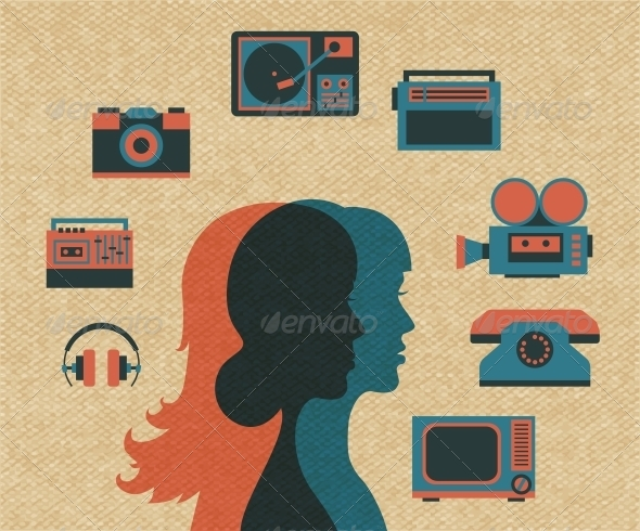 GraphicRiver Friends Silhouettes 6092014