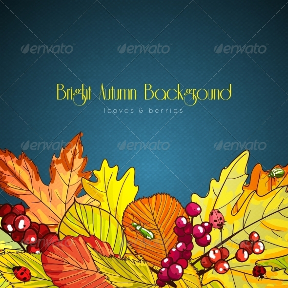 GraphicRiver Bright Autumn Background 6092039