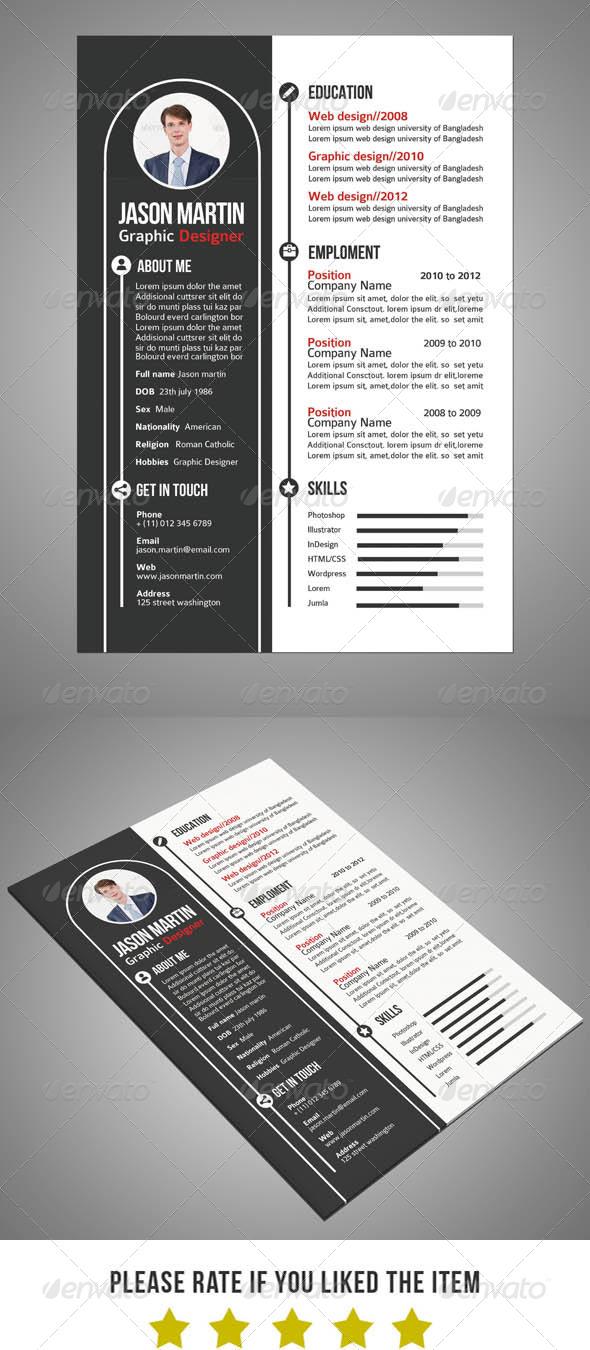 GraphicRiver Creative Resume v4 6092117