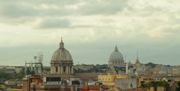 Time Lapse Over Cloudy Rome