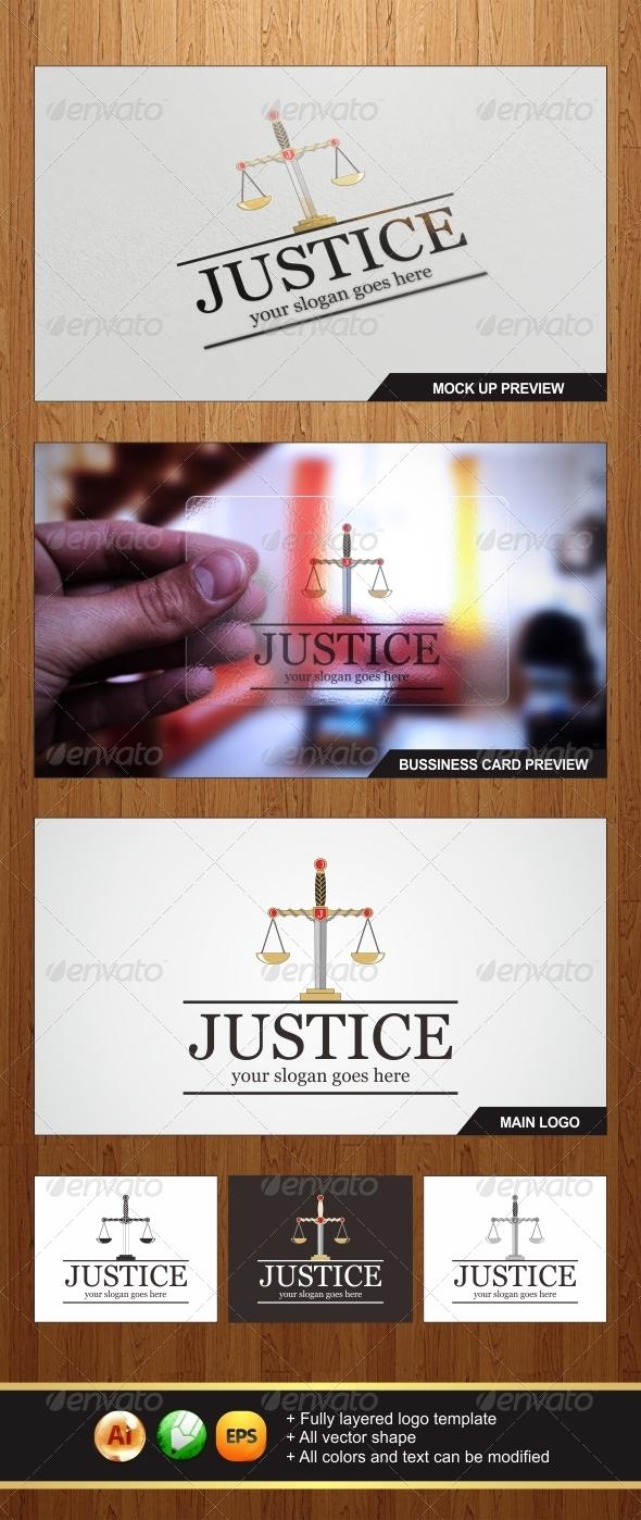 Justice Law Logo - Symbols Logo Templates