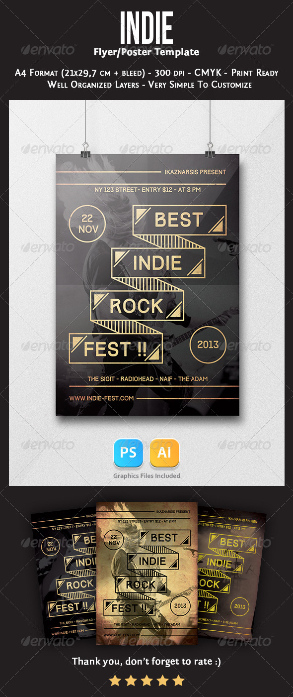 GraphicRiver Indie Flyer Template 6093163