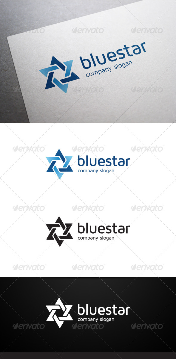 GraphicRiver Blue Star Logo 6093169
