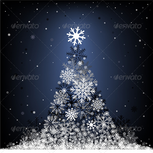GraphicRiver Snow Fir Tree 6093277