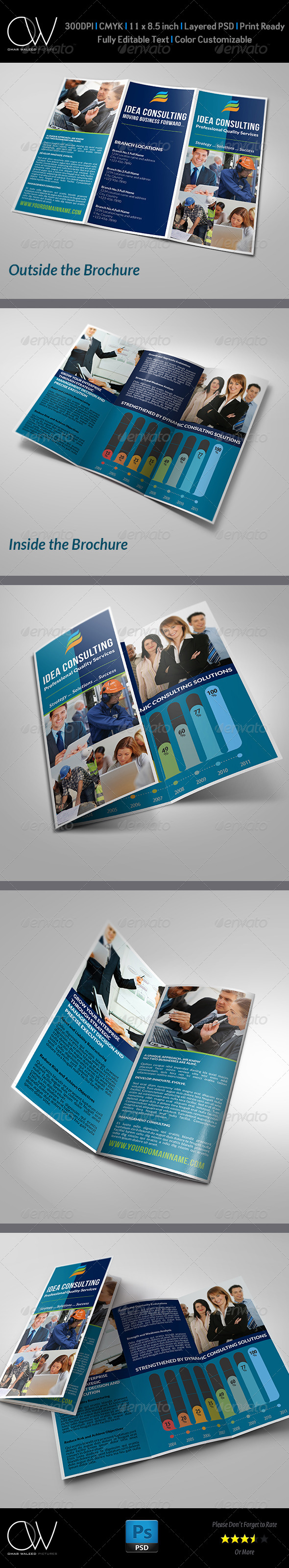 Corporate Business Tri-Fold Brochure Vol.2