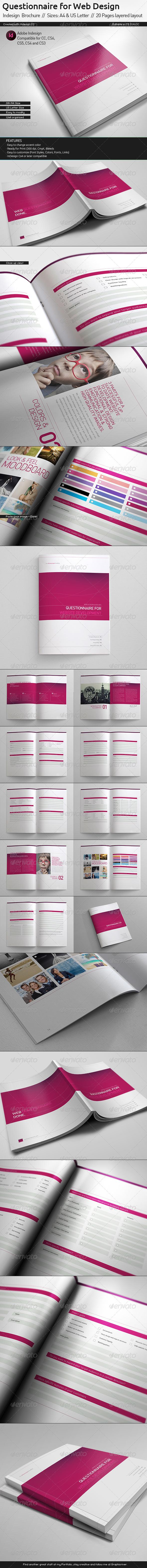 GraphicRiver Questionnaire Web Design Proposal 6093543