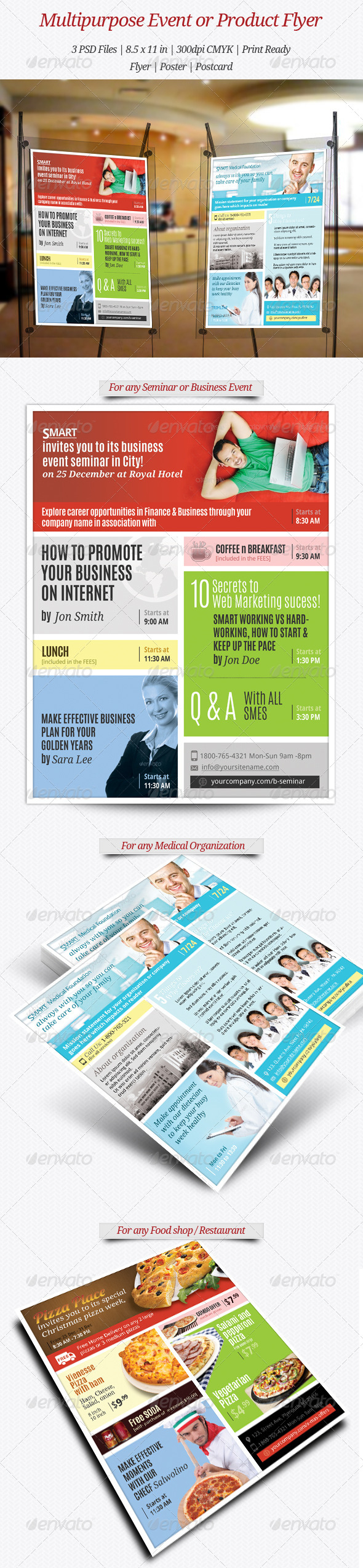 GraphicRiver Multipurpose Product Service or Event Flyer 6093570