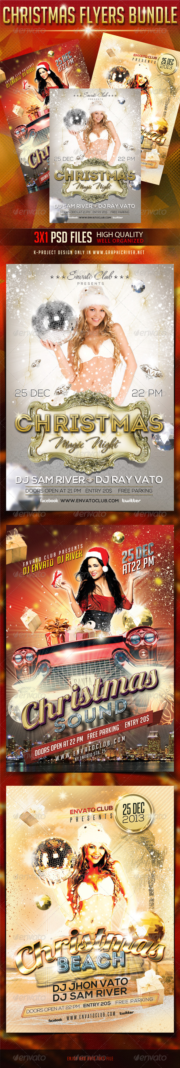 GraphicRiver Christmas Flyers Bundle 6069515