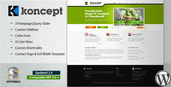 Koncept 10 in 1 - Business & Portfolio Wordpress