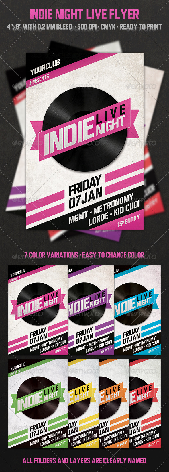 Indie Night Live - Events Flyers