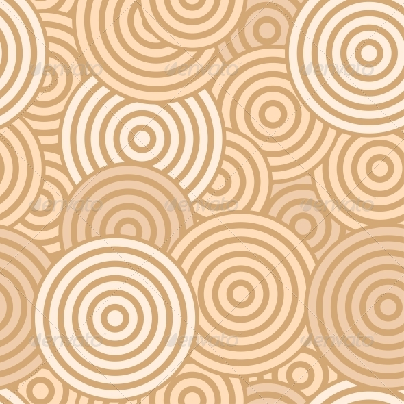 GraphicRiver Beige Seamless with Concentric Circles 6094570