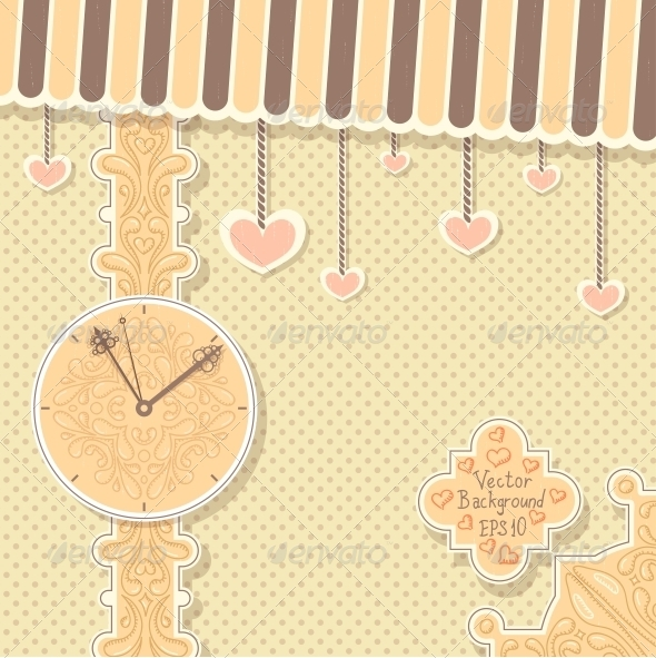 GraphicRiver Vintage Postcard with Clock 6094662