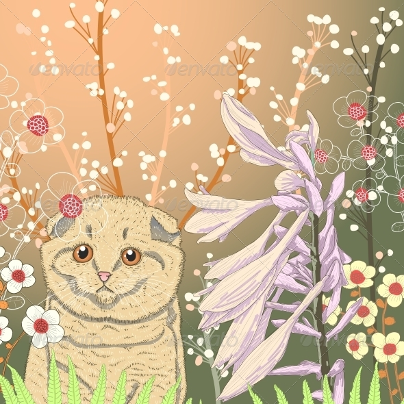 GraphicRiver Kitten in the Garden 6094733