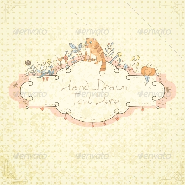 GraphicRiver Stylish Floral Hand Drawn Frame 6094754