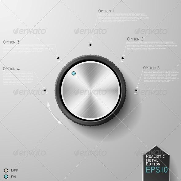 GraphicRiver Realistic Metal Knob 6094805