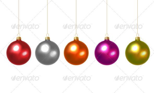 GraphicRiver Set of Christmas Balls 6094896