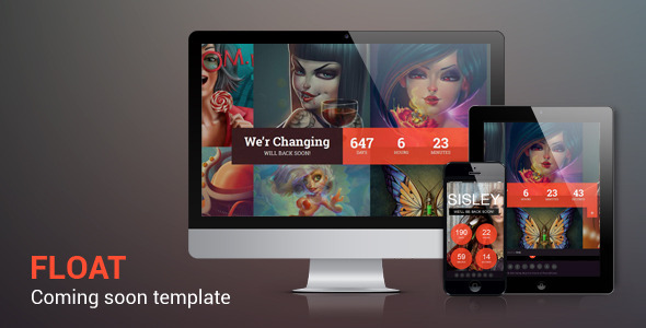 Float - Responsive Under Constraction Template - Under Construction Specialty Pages