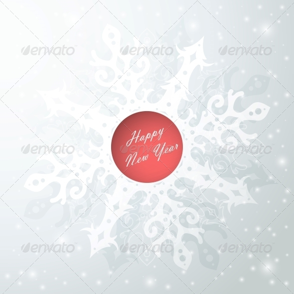 GraphicRiver Abstract Background with Snowflake 6094973