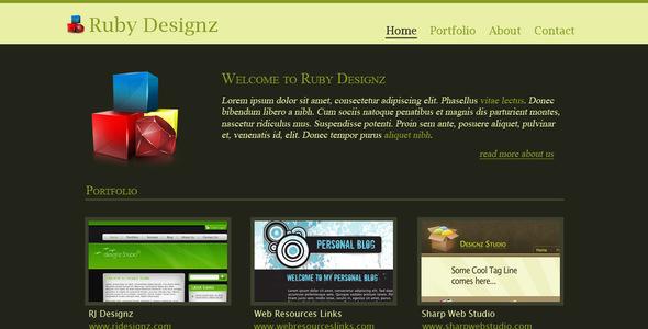 ThemeForest Ruby Designz Business Template 26467
