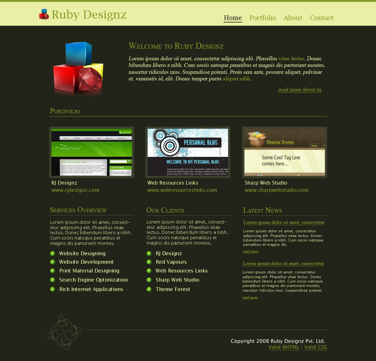 Ruby Designz Business Template