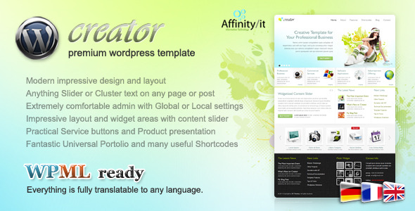Creator - Business Wordpress Theme + Html Template