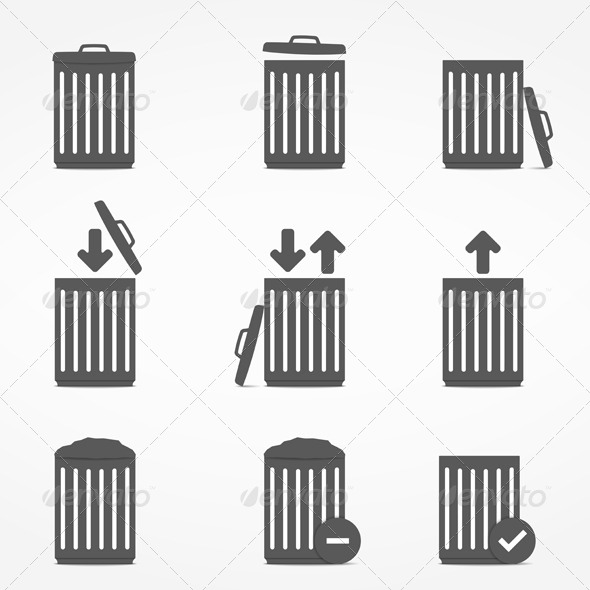 GraphicRiver Trash Can Icons 6095594