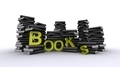 Piles Of Books With Yallow Text - PhotoDune Item for Sale