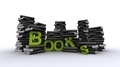Piles Of Books With Green Text - PhotoDune Item for Sale