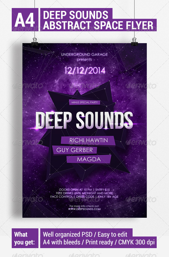GraphicRiver Deep Sounds Abstract Space Flyer 6095885