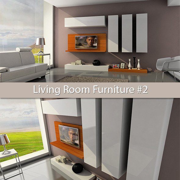 3DOcean Living Room Furniture #2 6096554