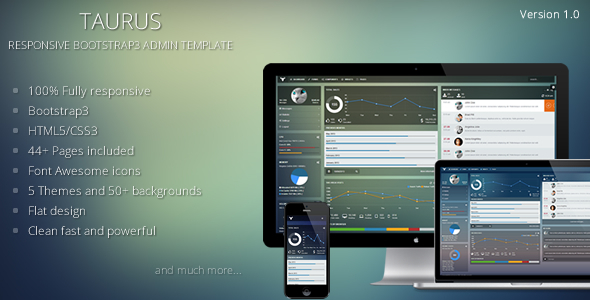 ThemeForest Taurus Responsive Bootstrap3 Admin Template 6097032