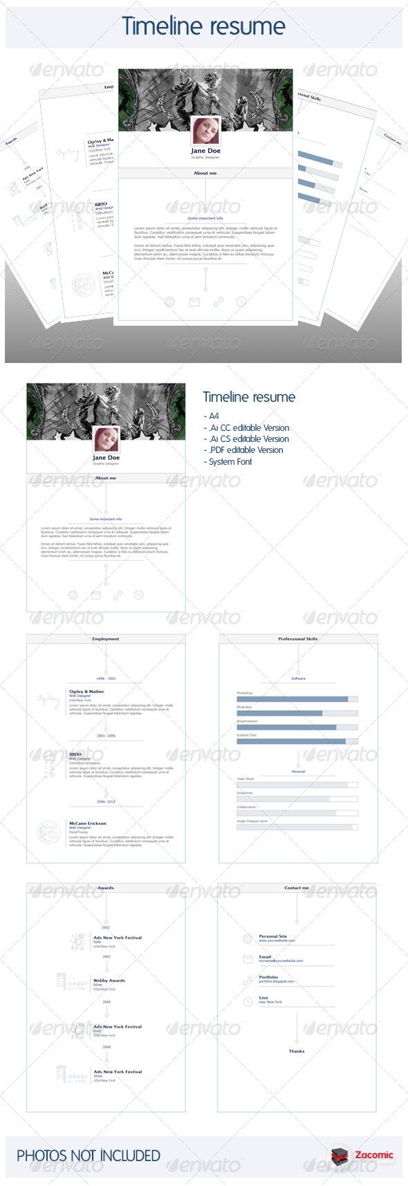 GraphicRiver Timeline Resume V.1.0 6097104