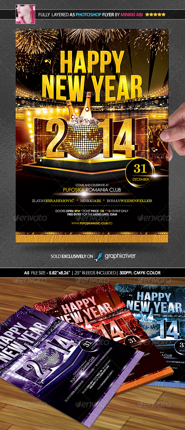 GraphicRiver Happy New Year Poster Flyer 6097250