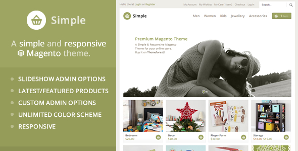 screenshot 01 - Apparel Store Magento theme