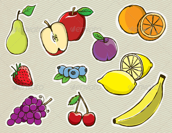 GraphicRiver Vector Hand Drawn Fruit 6098182
