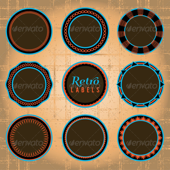 GraphicRiver Vector Set of Retro Labels and Badges 6098186