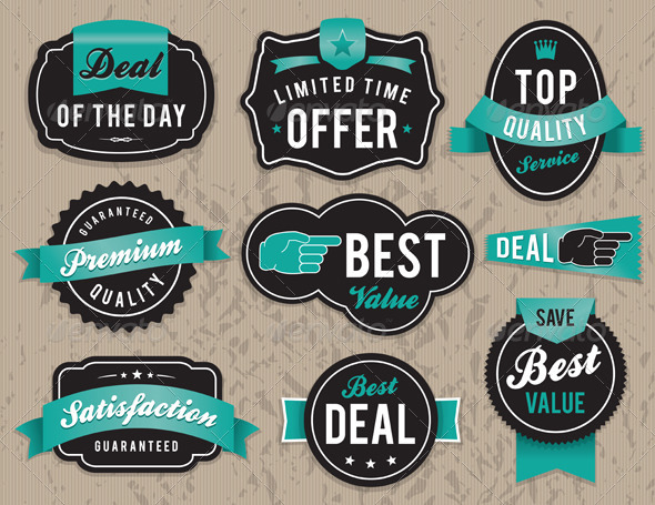 GraphicRiver Vector Retro Business Labels and Badges 6098360