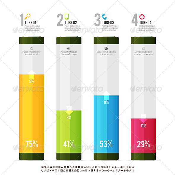 GraphicRiver Tube Meter Infographic Elements 6098591