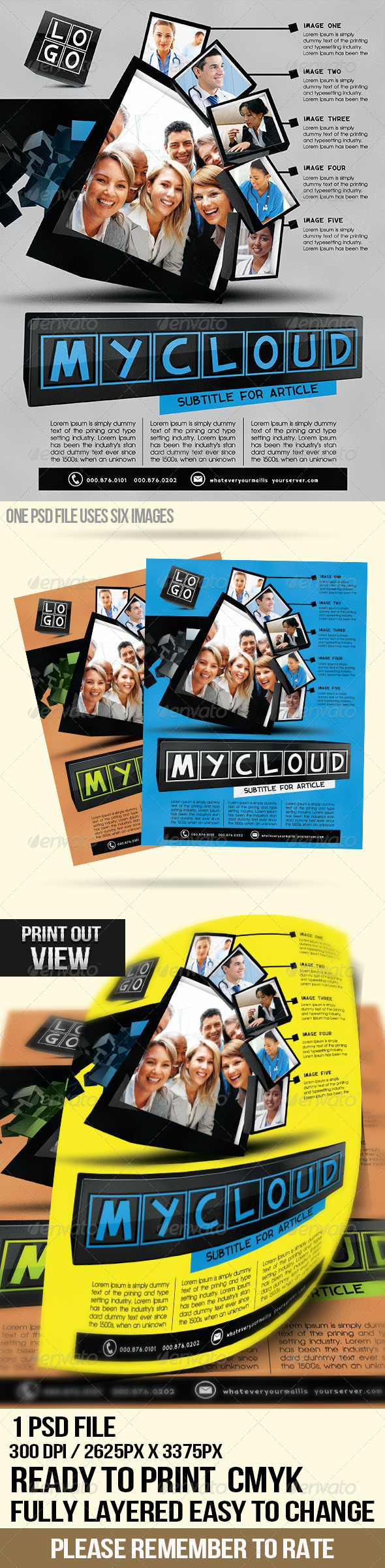 GraphicRiver Clean Cubes Pt.2 Multipurpose Flyer 6099056