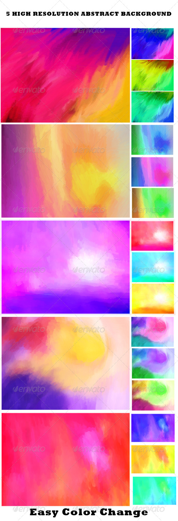 GraphicRiver Abstract Color Backgrounds 6099238