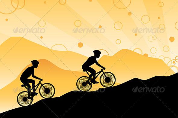 GraphicRiver Mountain Bikers 6099326