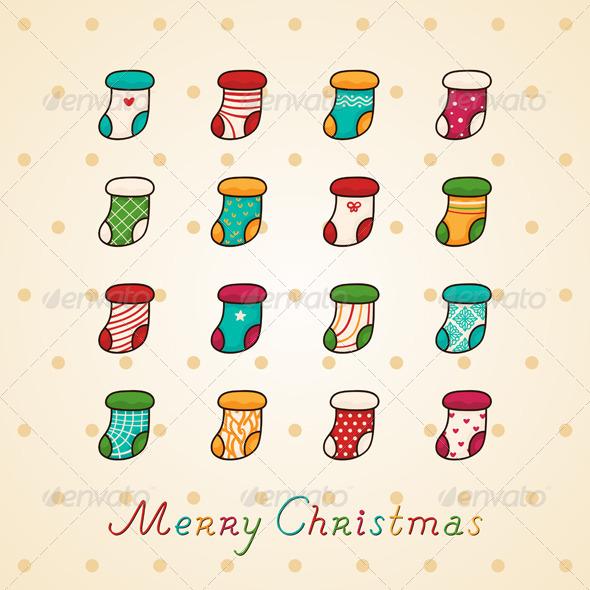 GraphicRiver Christmas Socks 6099418
