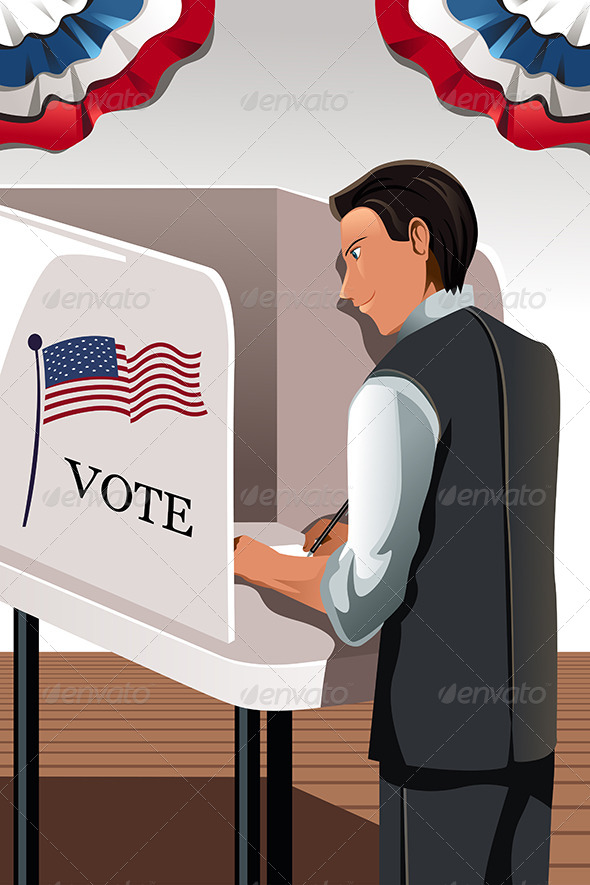 GraphicRiver Voting Man 6099422