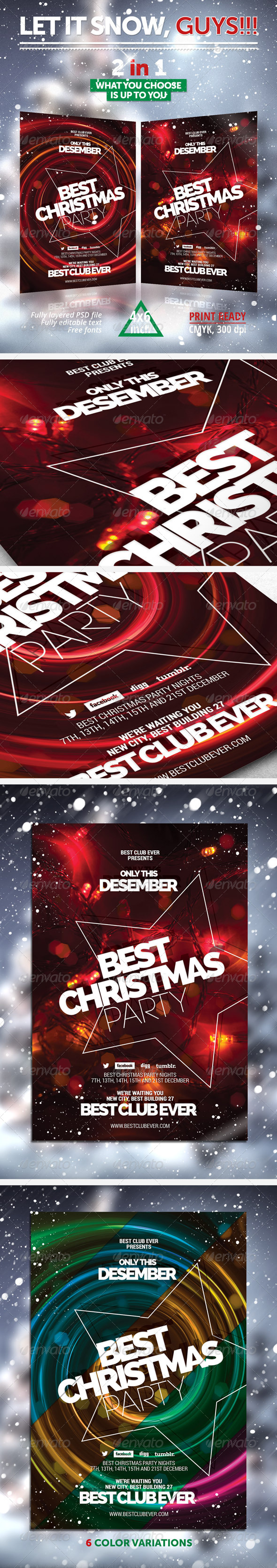 GraphicRiver Best Christmas Party Flyer 6099570