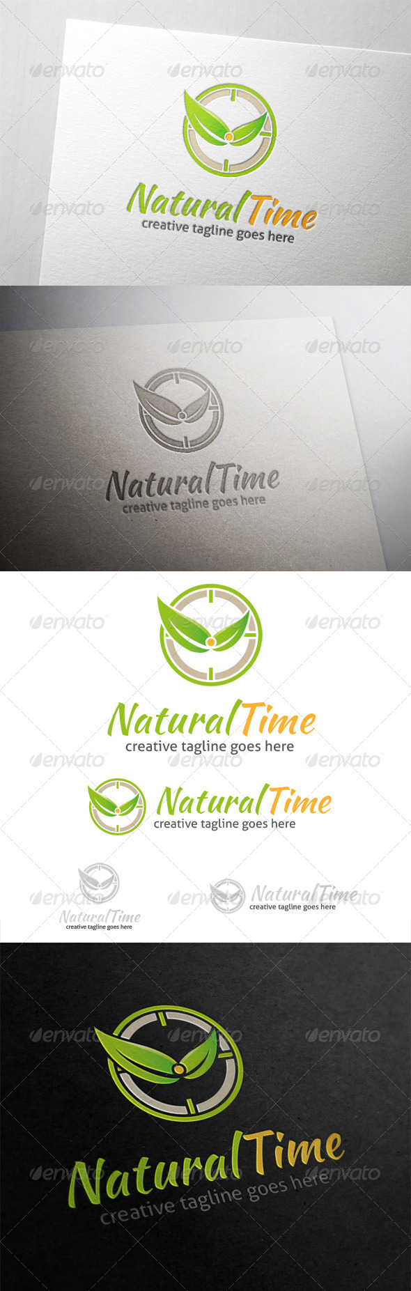 GraphicRiver Natural Time Logo 6100336